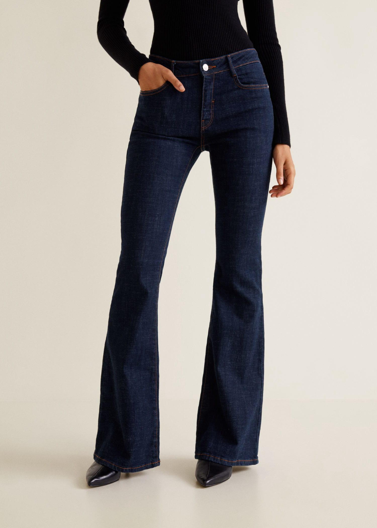 36d8c2afb7 Mango Decorative Seam Flared Jeans - 10