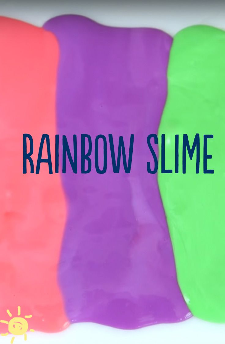 Diy: How To Make Slime Without Borax #slime #rainbow # Diy #kids