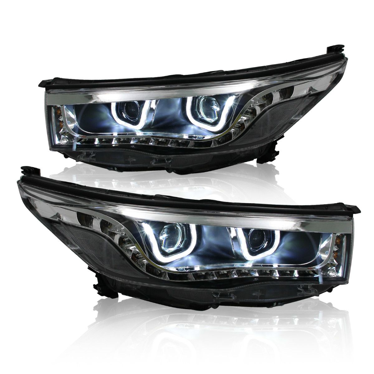 Win Power Projector Lens Headlight for Toyota Highlander With LED ...