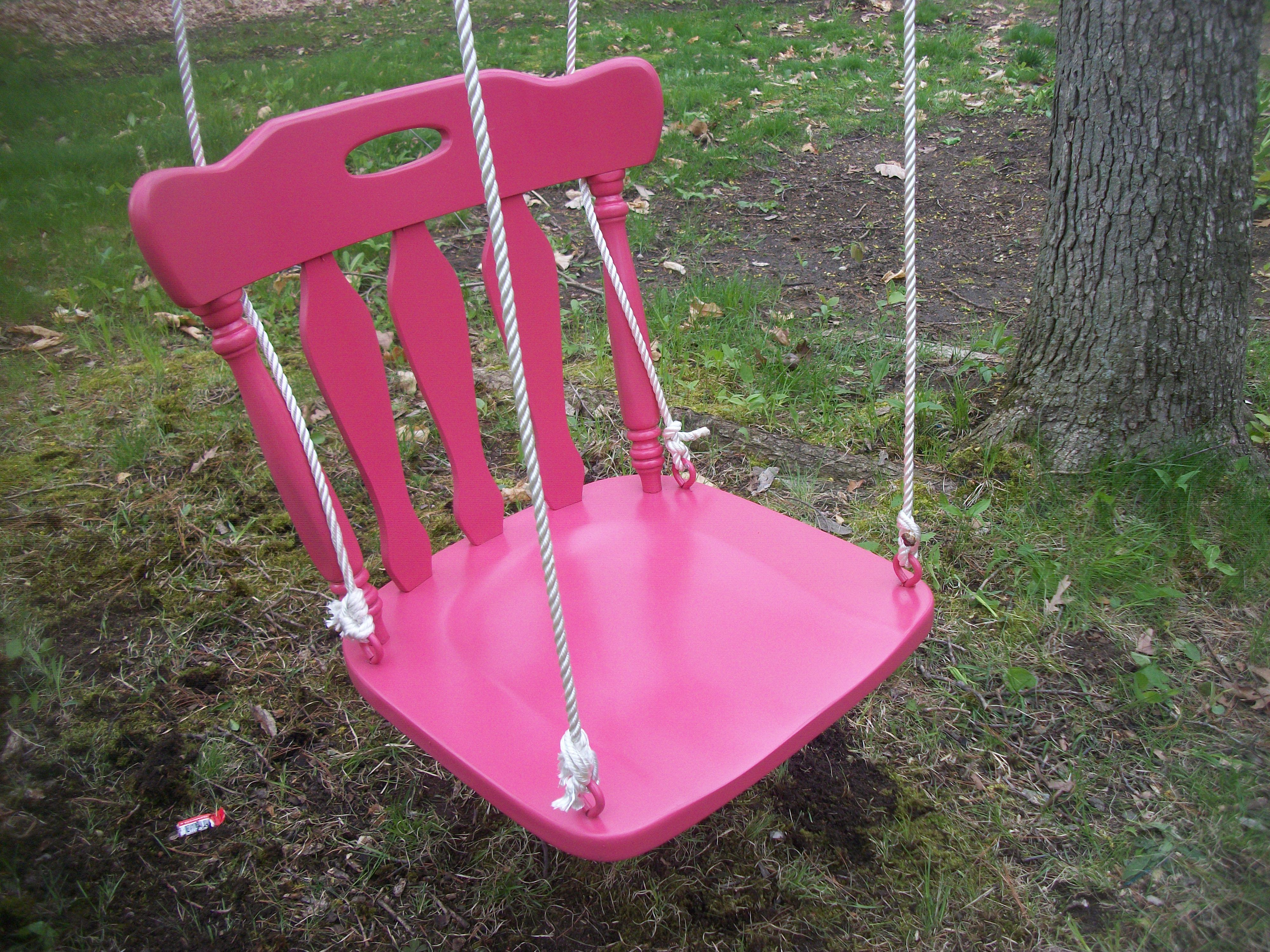 Homemade swing Kitchen chair Creative Pinterest Swings