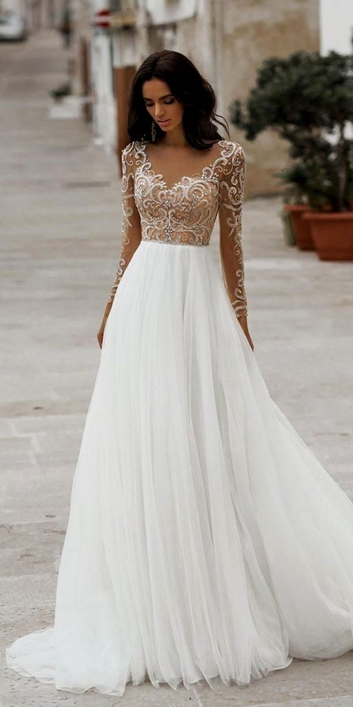 Lace Ball Gown Bridal Dress With Sleeves Lace Wedding Dress With Sleeves Top Wedding Dresses Wedding Dress Trends