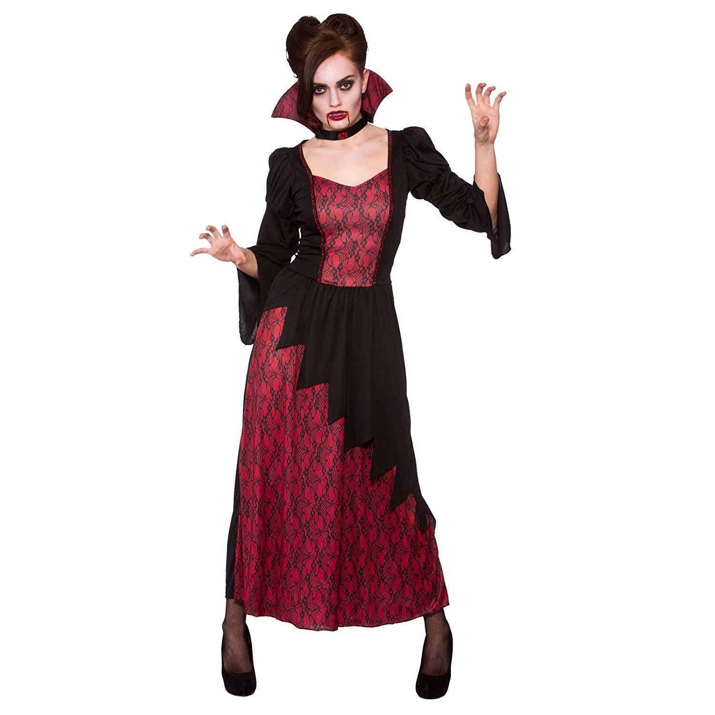 Amazon.com: Vicious Vampire Ladies Fancy Dress Halloween Vampiress ...