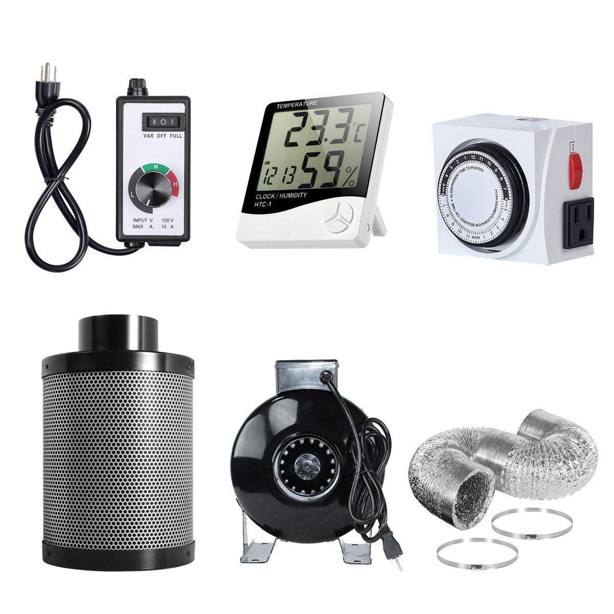 PrimeGarden 4'' Inline Fan Carbon Filter