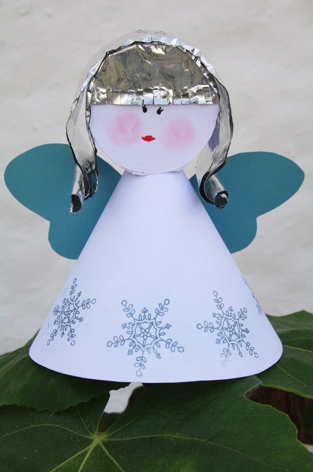 Make a paper angel with your style for festive decorations paper make a paper angel with your style for festive decorations pronofoot35fo Images