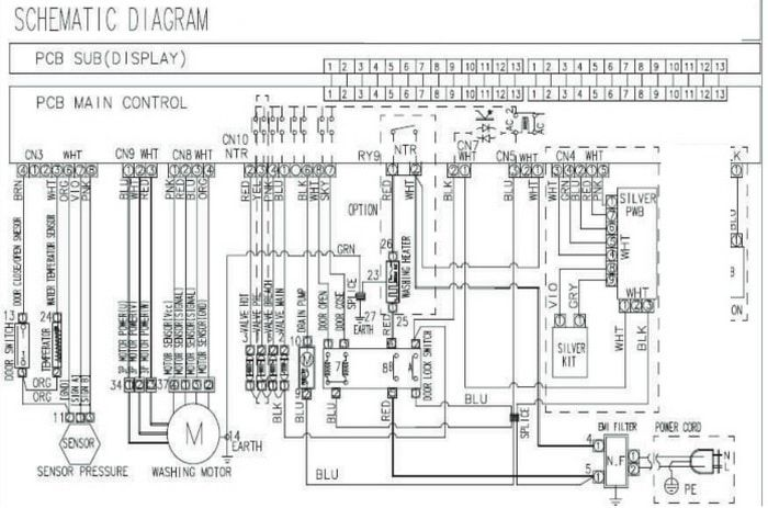 Samsung Washing Machine Electrical Schematic Diagram Wf328aa Models