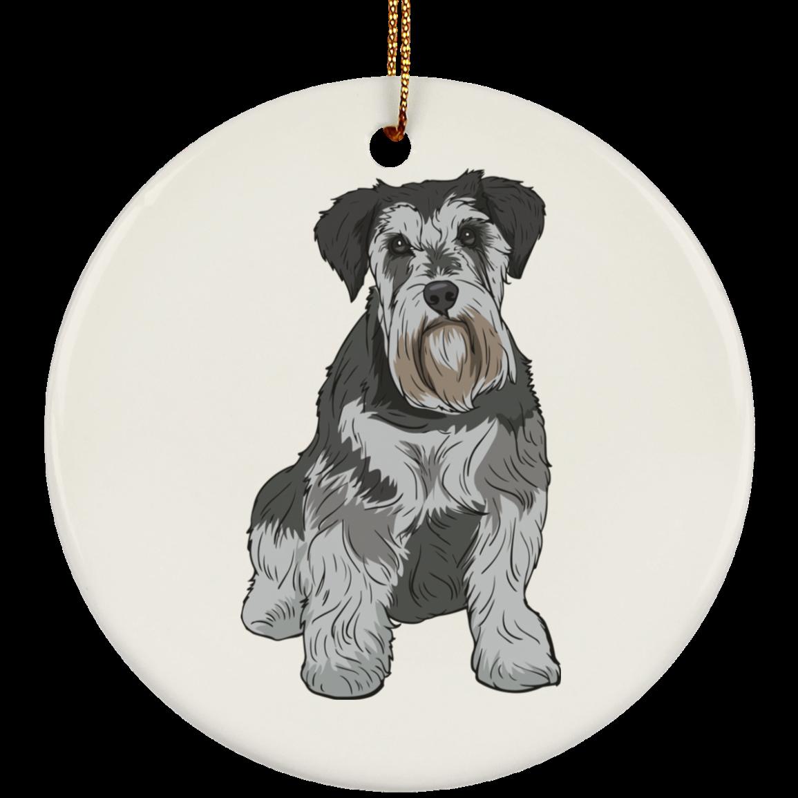 Miniature Schnauzer Dog Ornament Christmas Tree Ornaments Holiday