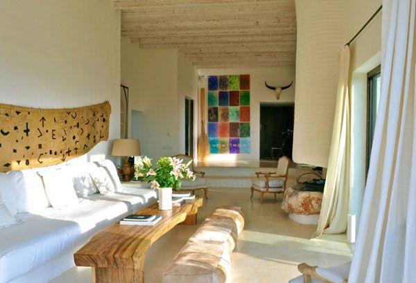 Charming and rustic art-filled Ibizan farmhouse