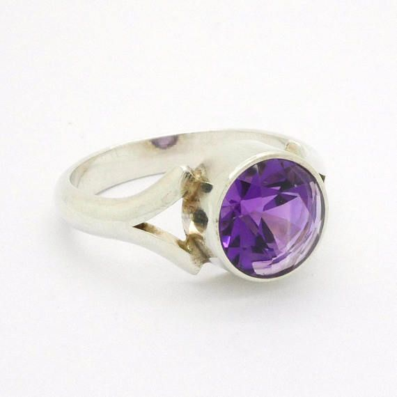 Purple Amethyst Sterling Silver Ring Size 825 Niels Erik From
