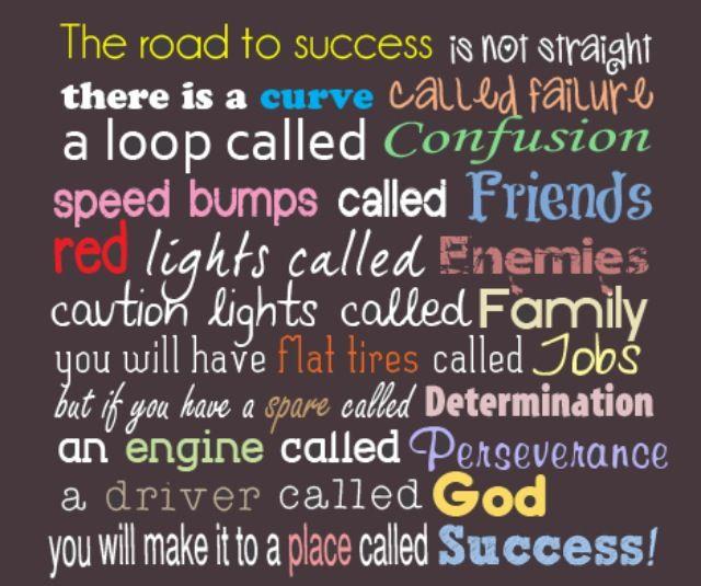 Determination Road To Success Quotes