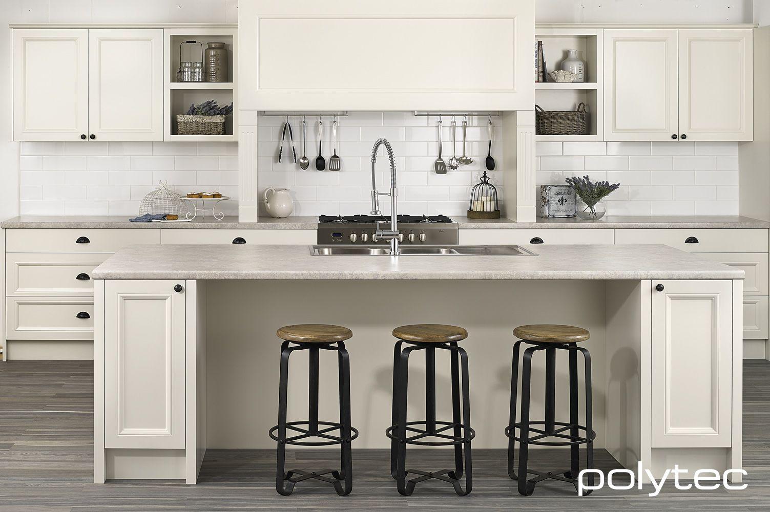 polytec THERMOLAMINATED doors in 21mm Keimbah Porcelain Matt and