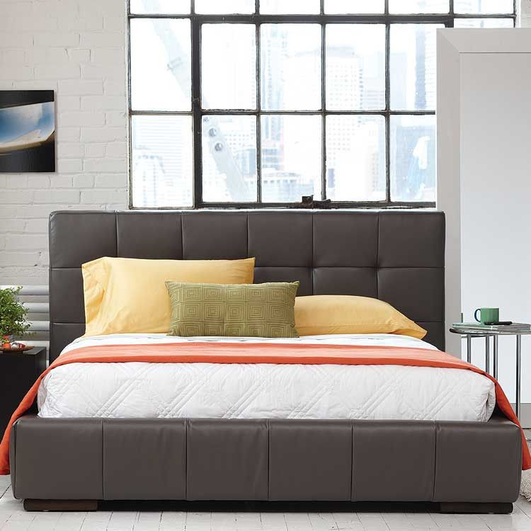 Modern contemporary leather platform bed - Furniture stores Seattle ...