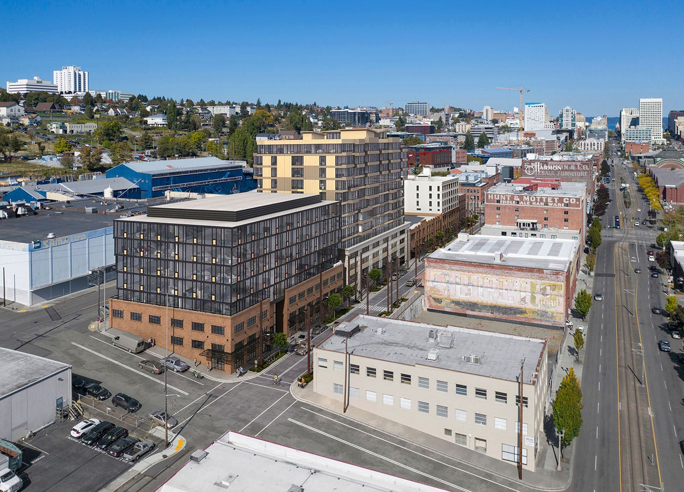 New Images Show The Designs For 200m Brewery Blocks In Tacoma Brewery Blocks Will Have A Mix Of Housing Offices And Brewery Japanese Beer Effects Of Alcohol