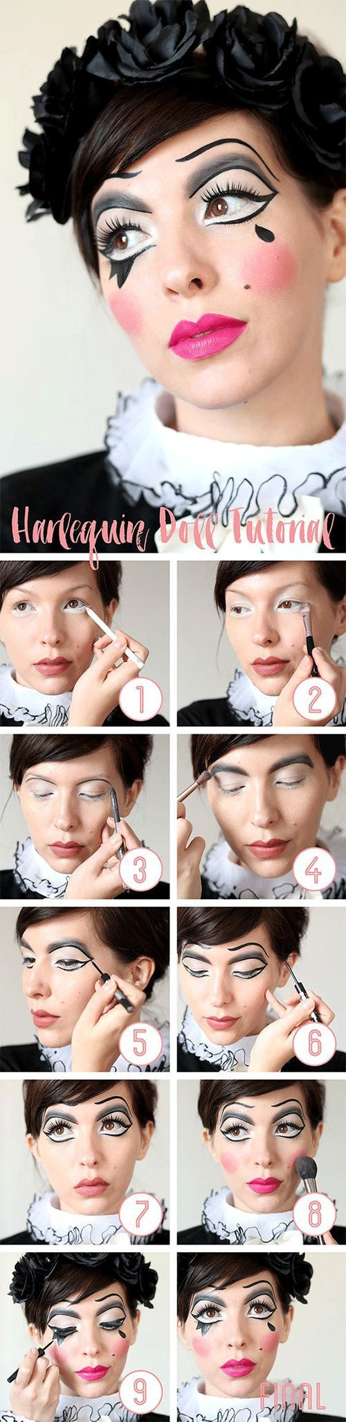 25+ Step by Step Halloween Makeup Tutorials for Beginners