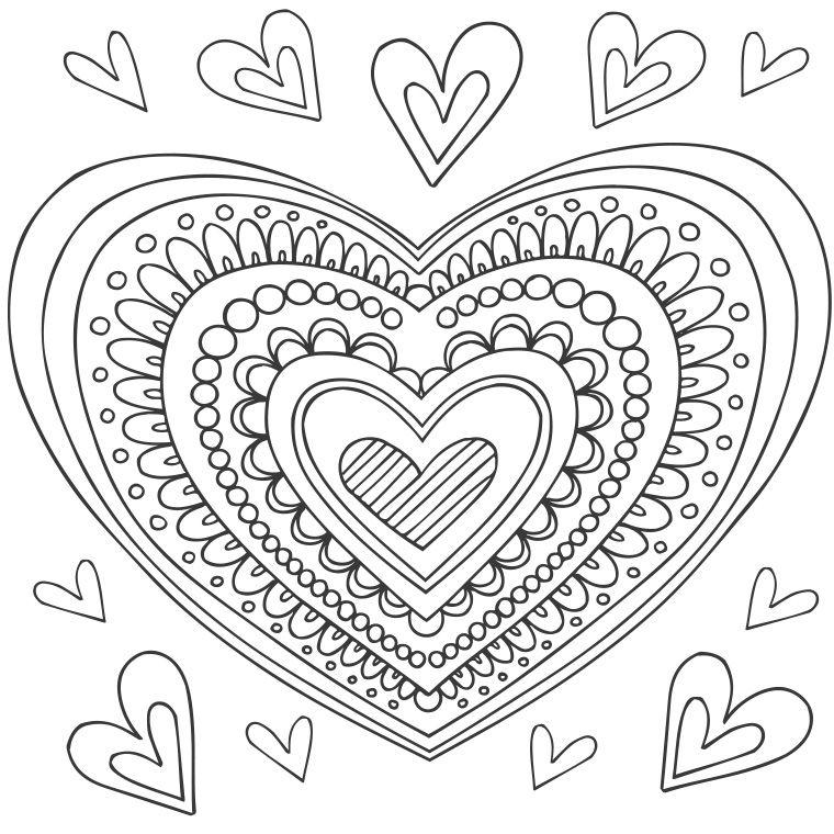 Fabulous Coloriage Mandala Coeur à colorier - Dessin à imprimer | Heart  MG34
