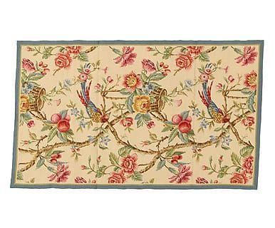 Tappeto mezzopunto in lana Nature crema/multicolor, 92x153 cm