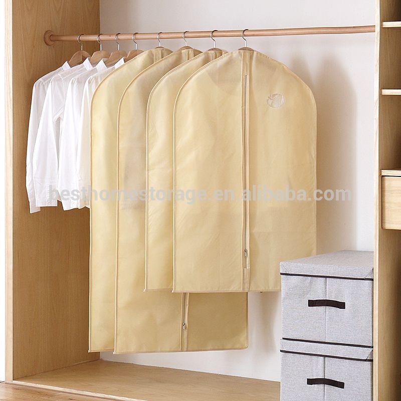 Transparent Dust Cover Garment of Clothes Hanging Pocket Storage Bag Q