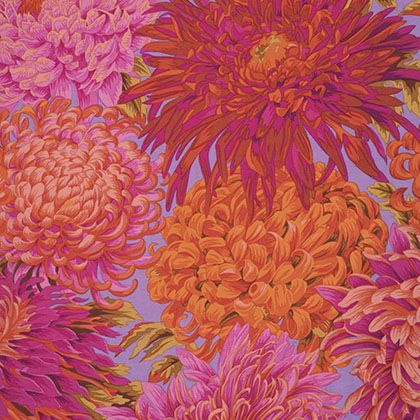 1//2 Yard Kaffe Fassett Japanese Chrysanthemum RED Quilting Fabrics