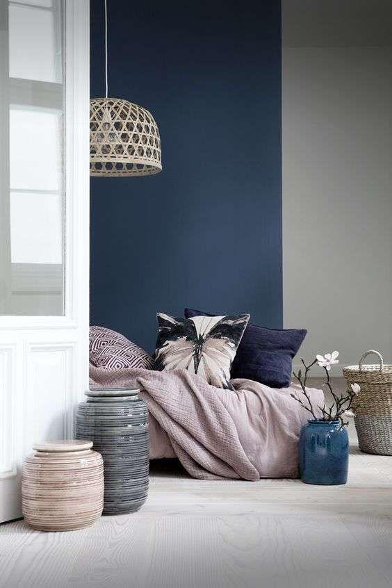 Arredare la camera da letto con i colori pastello - Camera blu e ...