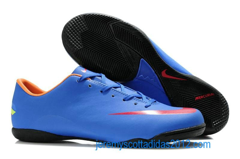 Nike Mercurial 2012 Victory VIII IC Indoor Soccer Shoes Blue Red ... ac4fe47c5d