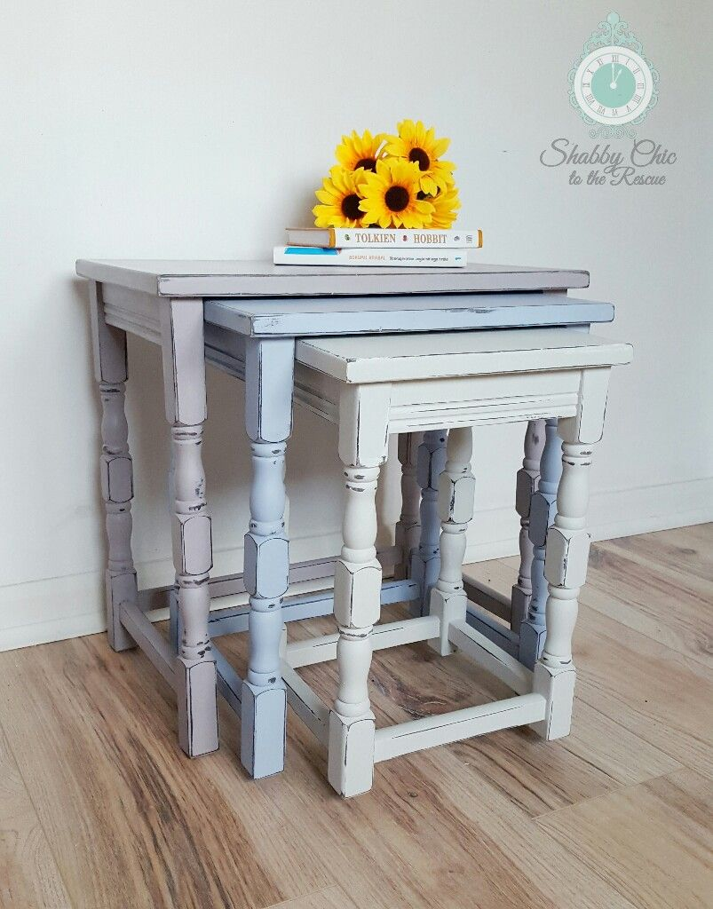 Chalk Paint Grey Nest Of Tables