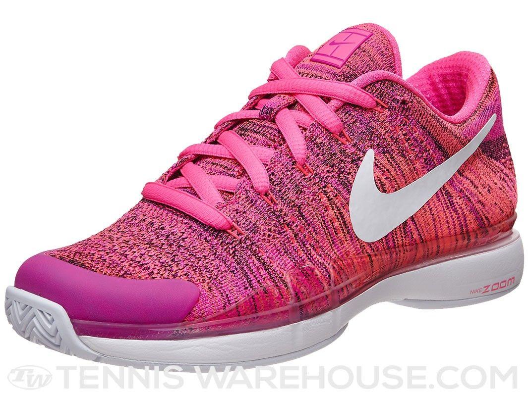 28e4bdf23615 Nike Zoom Vapor 9.5 Flyknit Pink Wh Women s Shoe