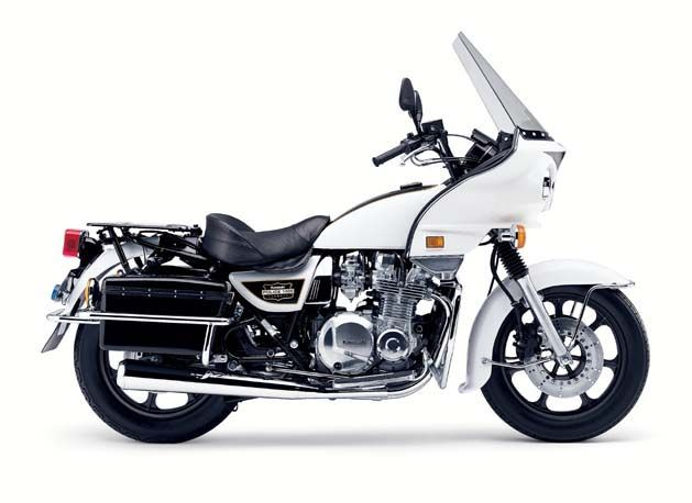 Kawasaki KZ1000 Police Motorcycle  In 1981, I rode one identical to
