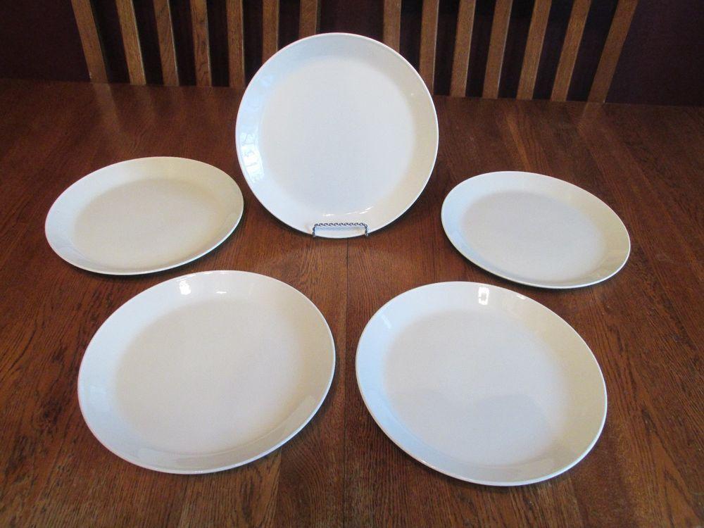 5 Gorgeous Johnson Brothers England Tivoli White Ironstone Dinner Plates & 5 Gorgeous Johnson Brothers England Tivoli White Ironstone Dinner ...