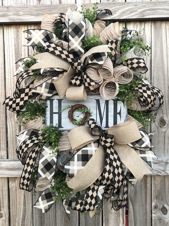 Everyday door wreath front door wreath door wreath
