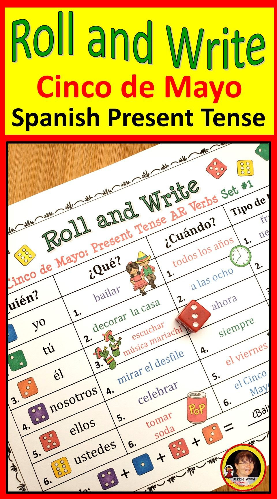 Spanish Cinco De Mayo Activities Spanish Present Tense Verbs Language Class Learning Spanish Spanish Lesson Plans [ 1728 x 960 Pixel ]