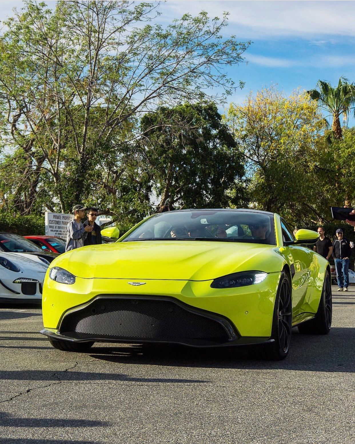 Aston Martin Vantage Painted In Lime Essence Photo Taken By N8 Shoots On Instagram Aston Martin Vantage Aston Martin Cars Aston Martin Lagonda