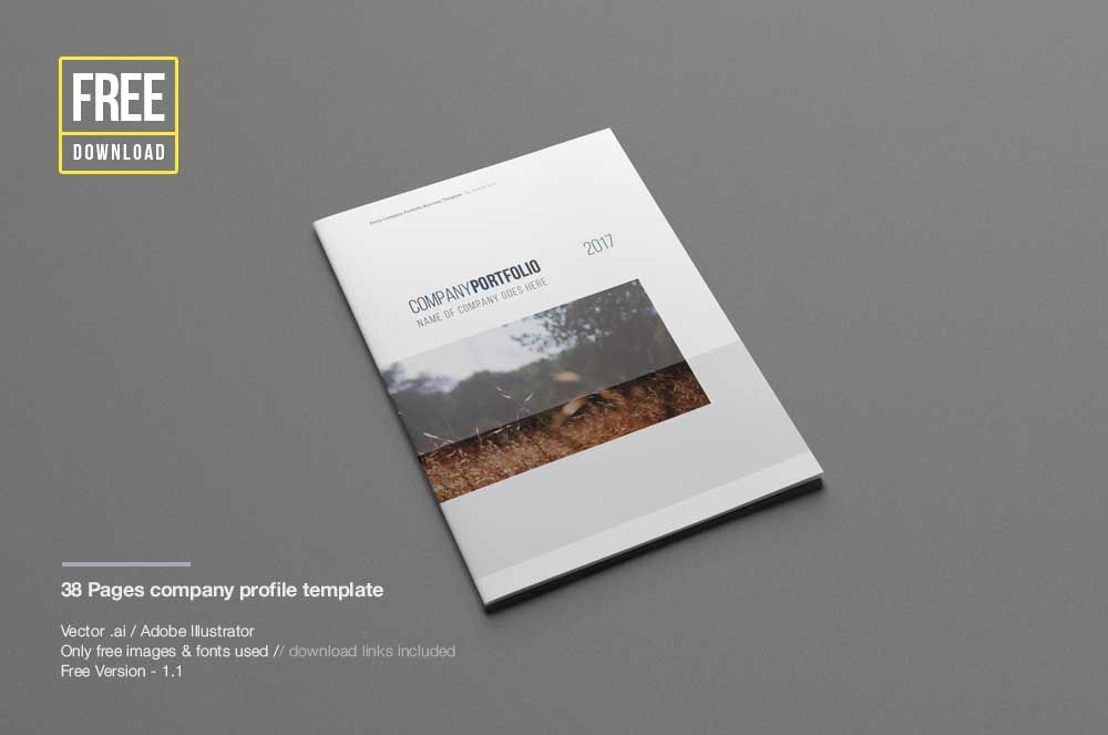 Elegant Company Profile Templates Free Desain
