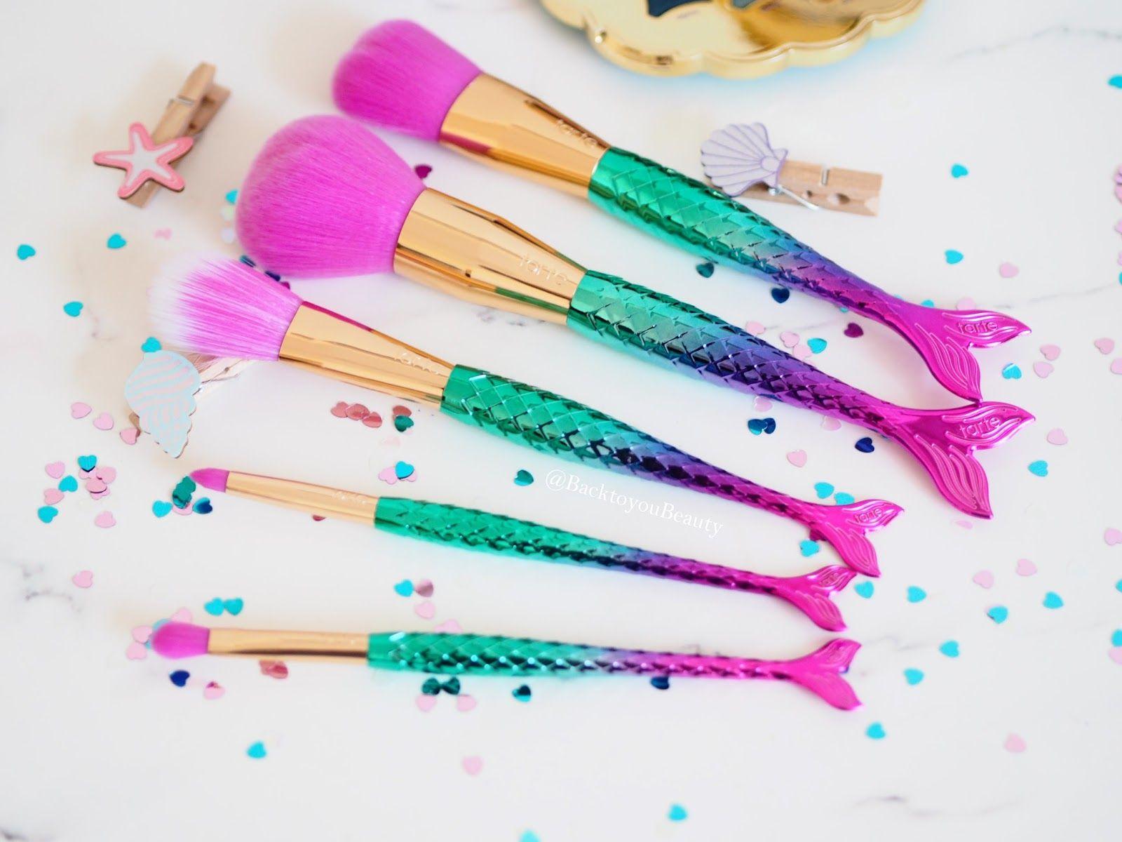 Tarte 5 minutes to mermaid brushes Mermaid makeup