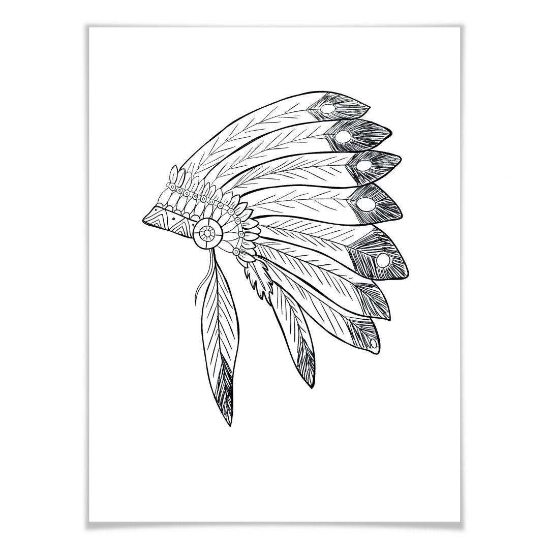 Poster War Bonnet Wall Art De Kopfschmuck Federn Indianer Bilder Indianer Kopfschmuck