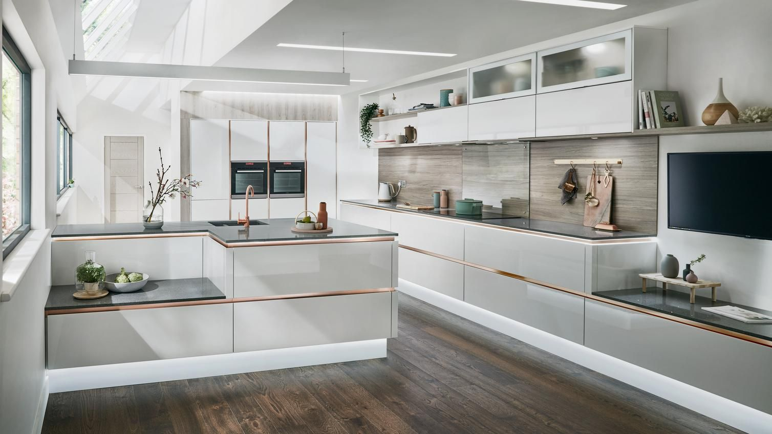 Linear Trend Latest kitchen designs, Contemporary