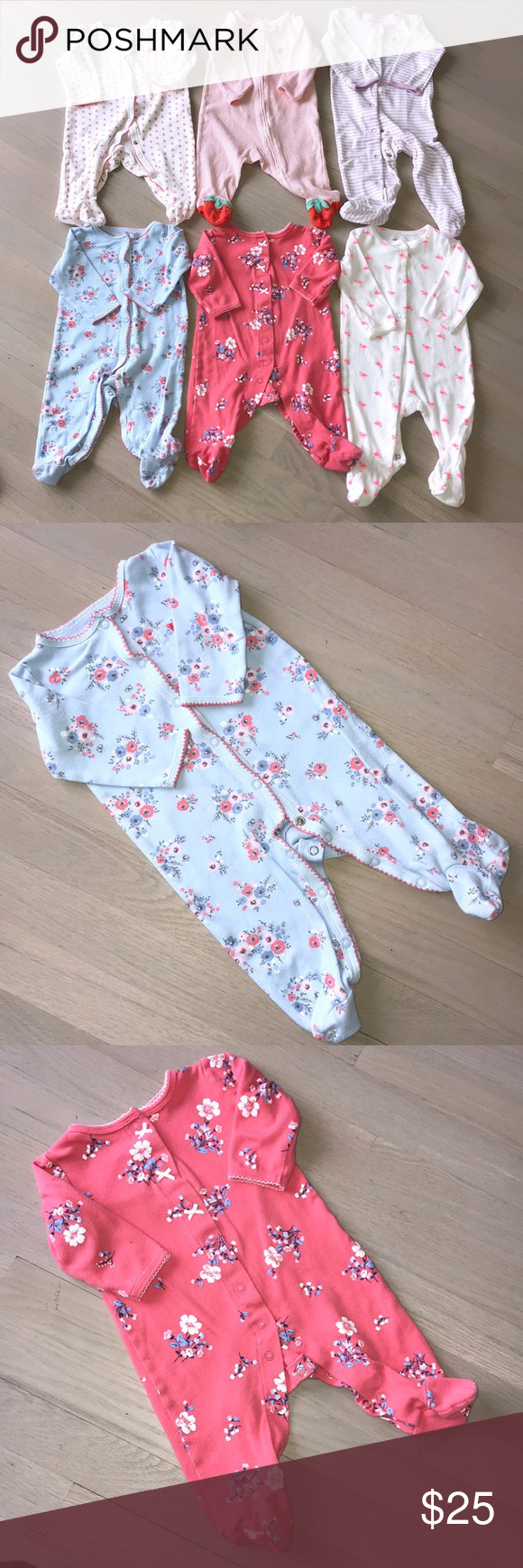 291e98485 Bundle 6 month footed pajamas - 6 carters footed pjs- all carters ...