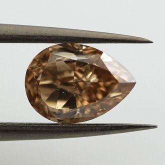 Fancy Yellow Brown Diamond, Pear Shape, 1.55 carat, SI2