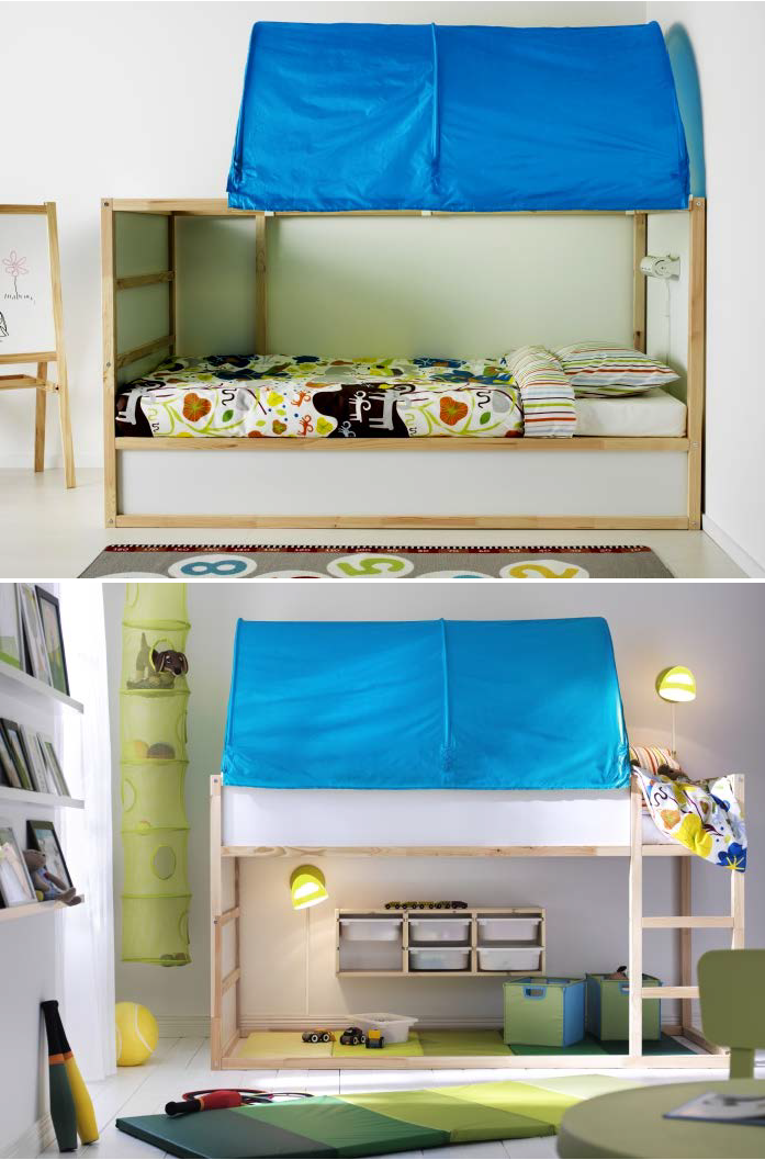 Kura Reversible Bed White Pine Twin Ikea Big Kids Room