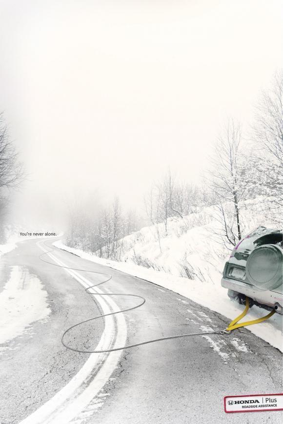 Advertising Campaign : Honda Plus Roadside Assistance: Tow Cable  Advertising Campaign Inspiration Honda Plus Roadside