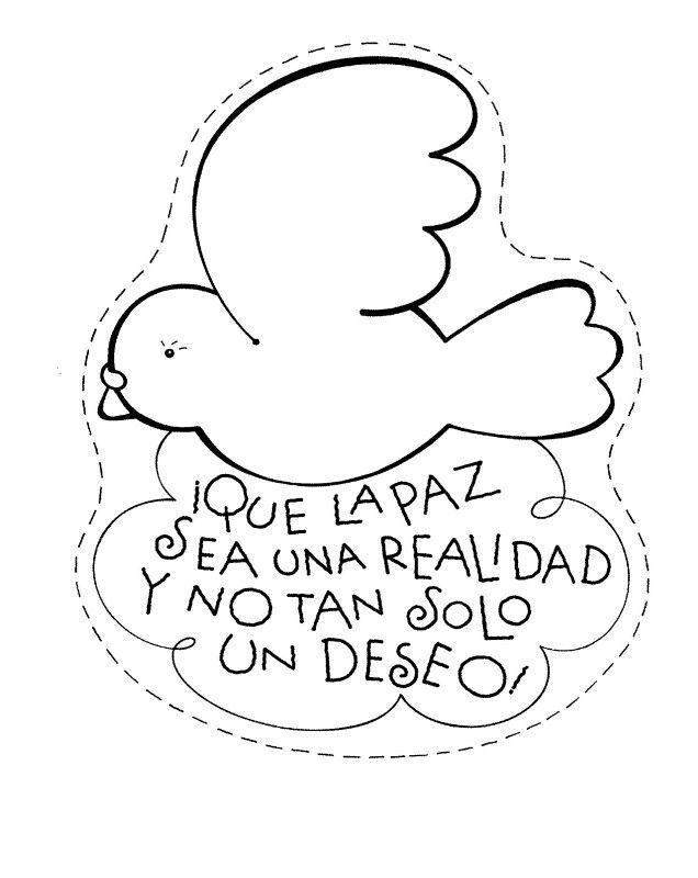Paloma de la paz para colorear | DIY | Pinterest | Paloma de la paz ...