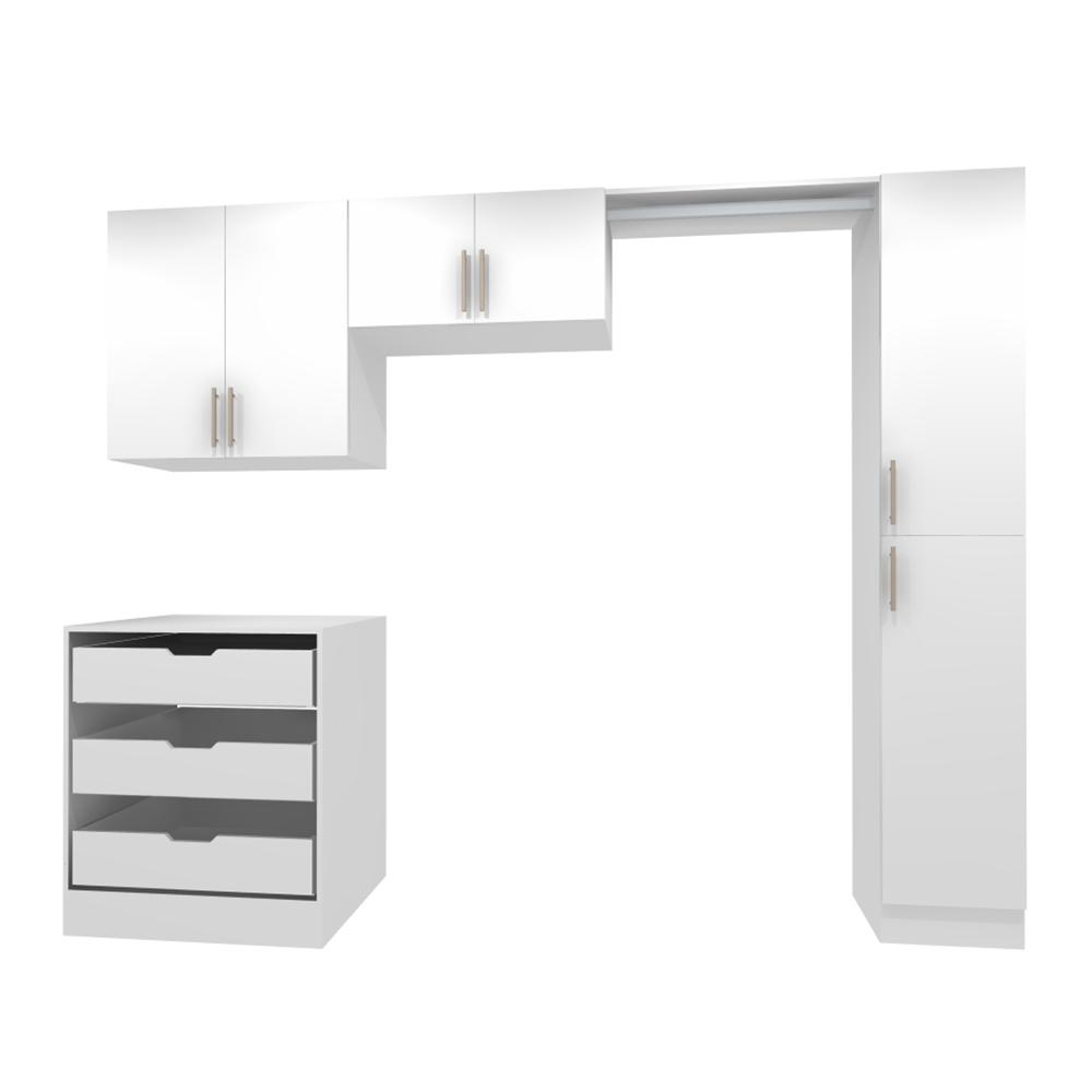 Horizon Door Kit For Utility Wall Cabinet With Handle In White X