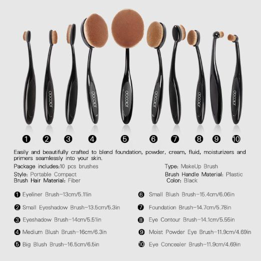 How To Use 2016 New Hot Oval Makeup Brush Oval Makeup Brush