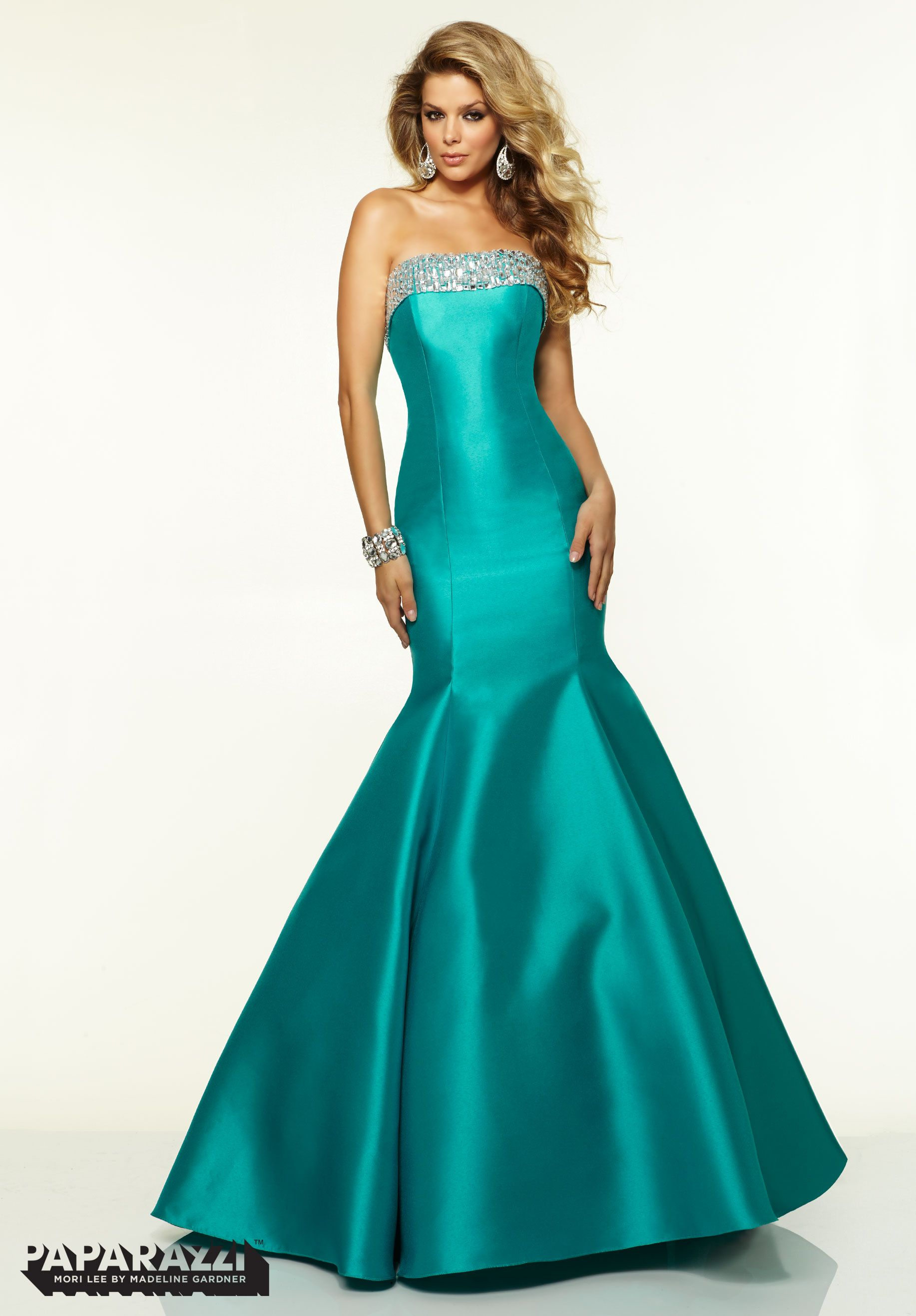 Pin by Ofelia Galvez on Turquoise | Pinterest | Prom, Satin and Gowns