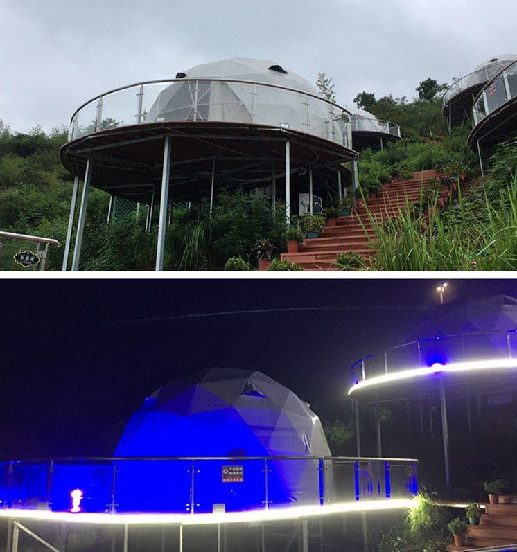 Magnifican El Sentido De Participacion Y Experiencia De La Naturaleza En El Hermoso Paisaje Geodesic Dome Dome Tent Geodesic