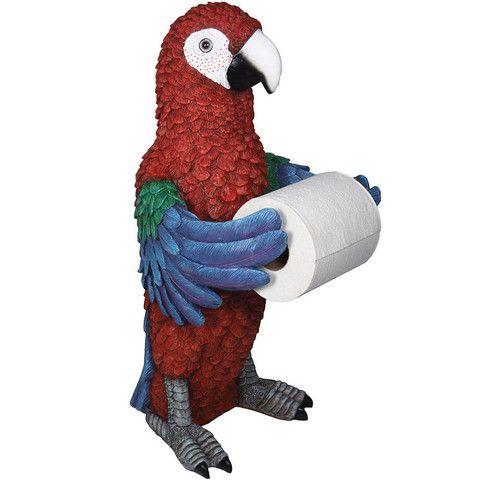 Parrot Standing Toilet Tissue Holder Baubles N Bling Nautical