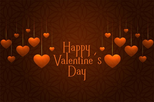 Download Valentines Day Celebration Greeting Card With Hanging Hearts For Free Download Valentines Valentines Hanging Hearts