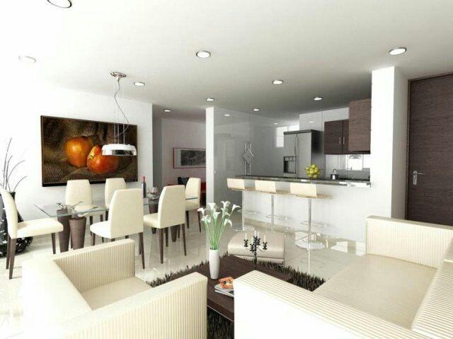 Sala comedor cocina integrado decoracion pinterest for Decoracion cocina comedor