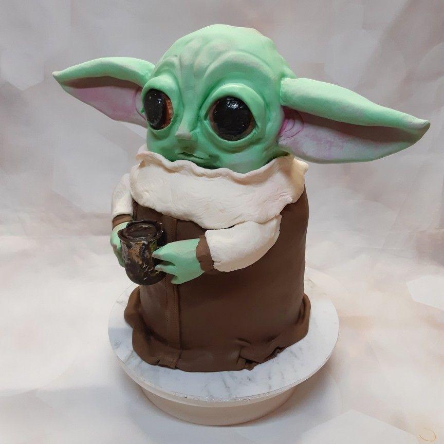 Baby yoda cake for chloes sweet 16th in 2020 yoda