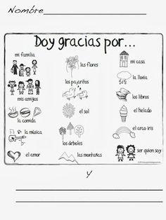 doy gracias por worksheet - Google Search | Espanol | Pinterest