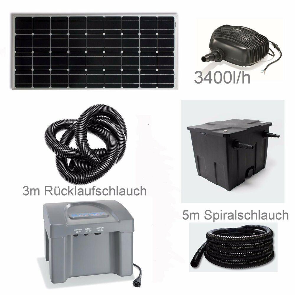 80 W Solar Teichpumpe Akku Bachlauf Filter Pumpe Solarpumpe Gartenteich Batterie Teichpumpen Gartenteich Teichfilter