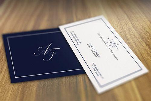 elegant lawyer business card